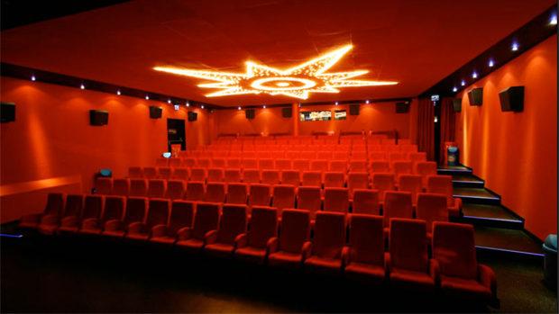 Der leere Vorführraum des Cinetreffs.