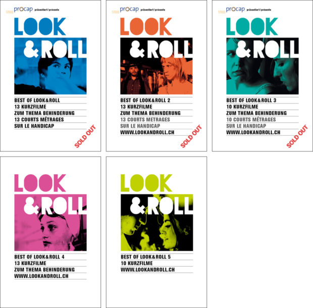 The covers of the DVDs Best of look&roll 1 to 5