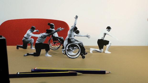 Bild aus einem Animationsfilm mit 6 Mitgliedern eines integrativen Tanzensembles